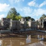 Namo statyba iš Izoblok blokelių, betonavimas