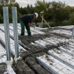 Namo statyba iš IZOBLOK blokelių, perdangos betonavimo darbai